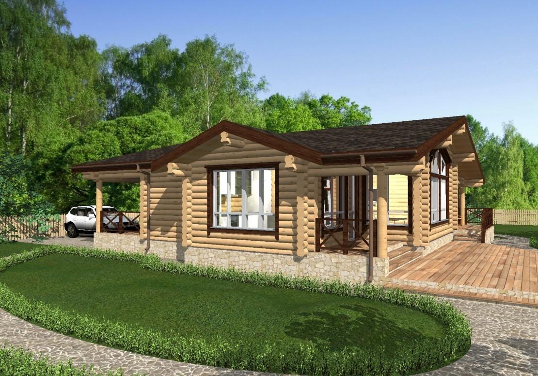 Проект дома из оцилиндрованного бревна ДД-188