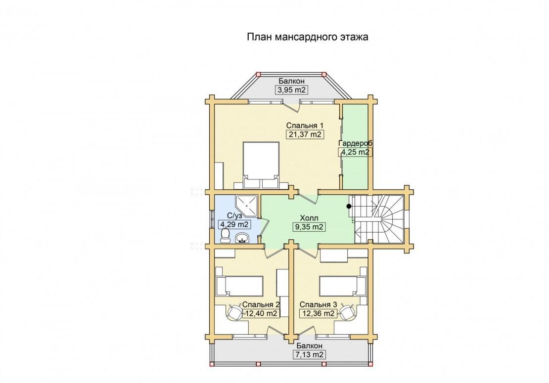 Проект дома из клееного бруса ДД-160
