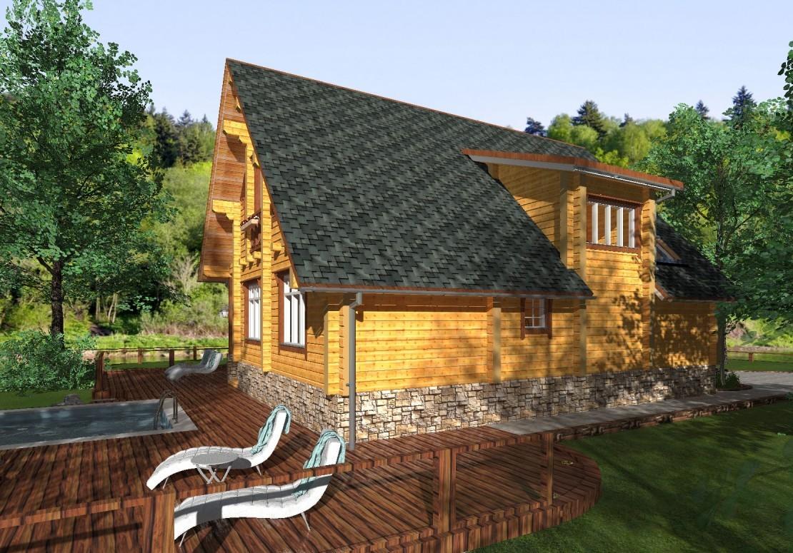 Проект дома из клееного бруса ДД-162