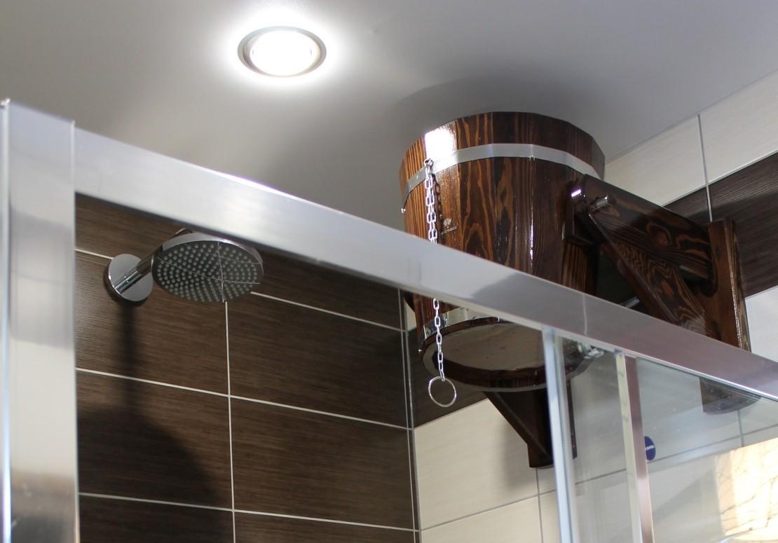 Проект бани из оцилиндрованного бревна ДБ-27